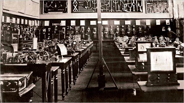 The telegraph room at The Mundaneum