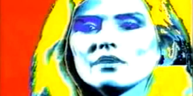 Debbie Harry painted by Andy Warhol on an Amiga 1000